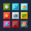 Set of game icons in flat design style. — Stock Vector #53371689