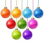 Christmas balls isolated on white for design. — Stock Vector #53371867