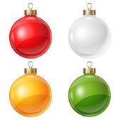 Christmas balls isolated on white for design. — Stock Vector