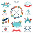 Merry Christmas and Happy New Year banners, decorations. — Stock Vector #53630117