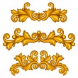 Set of baroque ornamental antique gold scrolls and vignettes. — Stock Vector #53819169