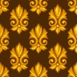 Seamless pattern with baroque ornamental floral gold elements. — Stock Vector #53892303