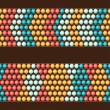 Ethnic african beads abstract color seamless pattern. — Stock Vector #56539959