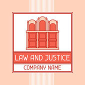 Law and justice company name concept emblem. — Stock Vector