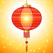 Chinese New Year background design with lanterns. — Cтоковый вектор