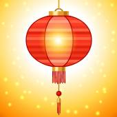 Chinese New Year background design with lanterns. — 图库矢量图片