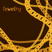 Background design with beautiful jewelry gold chains. — Cтоковый вектор