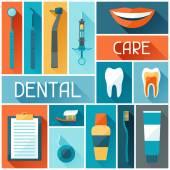 Medical background design with dental icons. — ストックベクタ
