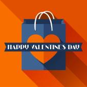 Happy Valentines illustration in flat style. — Vector de stock