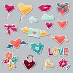 Set of Valentines and Wedding stickers. — Stockvector  #61418477