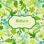Background of stylized green leaves. — Stockvector