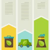 Infographie de l'écologie avec des icônes de l'environnement. — Vecteur