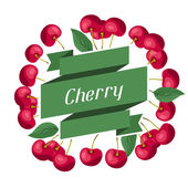 Nature background design with cherries. — Stock Vector