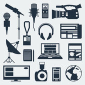 Set of journalism icons. — Stock Vector