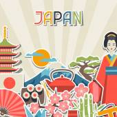 Japan background design. — Stock Vector
