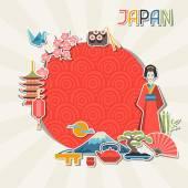 日本の背景デザイン. — ストックベクタ