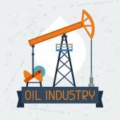 Oil pump jack background. — Stockvektor