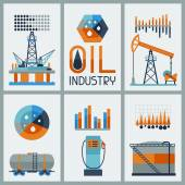 Industrial infographic design with oil and petrol icons. — Stock Vector