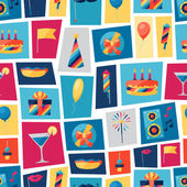 Celebration seamless pattern with party icons and objects. — Wektor stockowy
