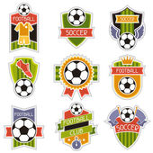 Set of sports illustrations soccer football badges. — Vector de stock