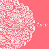 Vintage fashion lace background with abstract flowers — ストックベクタ