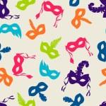 Celebration festive seamless pattern with carnival masks — Stock Vector #70185789