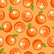 Seamless pattern with stylized fresh ripe oranges — Stock Vector #70644685
