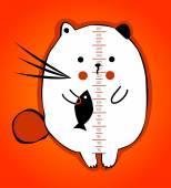 Funny kitten — Stock Vector