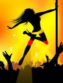 Dancing girl — Stock Vector