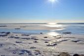 Marine winter landscape — Stock Photo