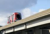 Elevated train car in Jacksonville — Stock Photo