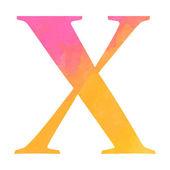 Watercolor alphabet letter. — Stock Vector
