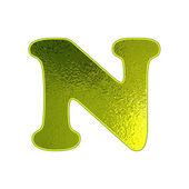 Satz der grüner Schrift mit dem glühenden Glas-Effekt. — Stockvektor