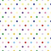 Multicolored polka dot pattern. — Stock Vector
