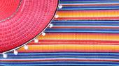 Sombreo Mexican colorful fabric — Stock Photo