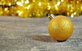 Gold Christmass ball — Stock Photo