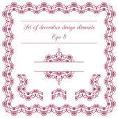 Set of decorative design elements — Wektor stockowy