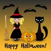 Carta vettoriale di halloween — Vettoriale Stock