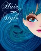 Hair Style Beauty Illustration — Vector de stock