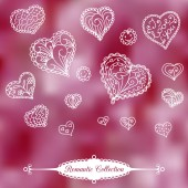 Vector Valentine's Day background — Stock Vector