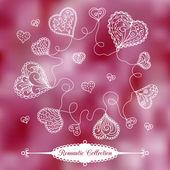 Vector Valentine's Day background — Stock Vector