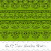 Set of seamless borders — Stock Vector