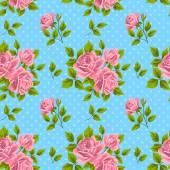 バラとヴィンテージのシームレスなパターン — ストックベクタ