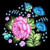 Russian Zhostovo floral ornament — Stock Vector