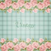 Vintage flower card with roses — Vector de stock