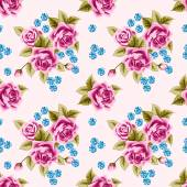 Vintage seamless pattern with roses — Stock Vector
