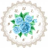 Vintage clock face with roses — Stock Vector