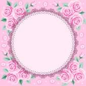 Vintage frame mit rosen — Stockvektor
