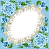 винтажная рамка с розами — Cтоковый вектор