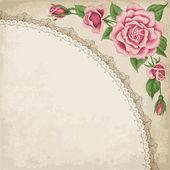 Vintage frame met rozen — Stockvector
